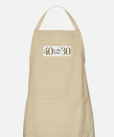 40 is the new 30 BBQ Apron