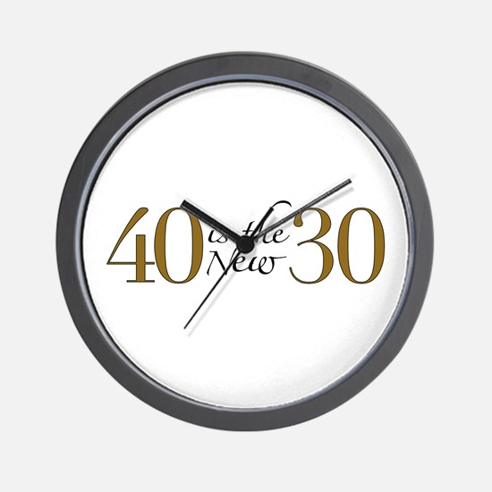 40 is the new 30 Wall Clock