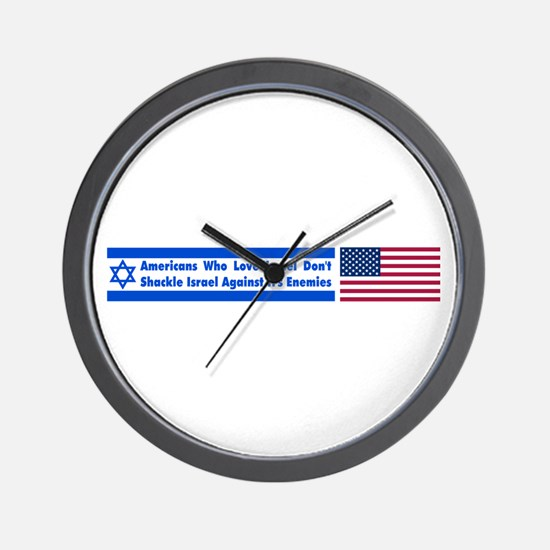 Don't Shackle Israel Wall Clock