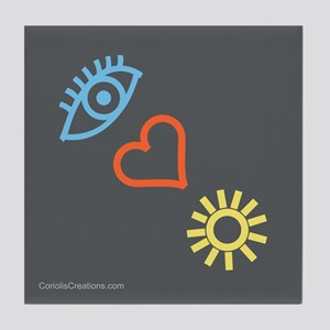 I Love Sunshine - Tile Coaster
