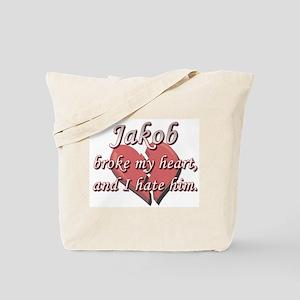 Jakob broke my heart and I hate him Tote Bag