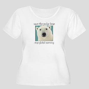 Polar bear Women's Plus Size Scoop Neck T-Shirt