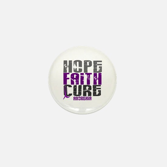 HOPE FAITH CURE Anorexia Mini Button