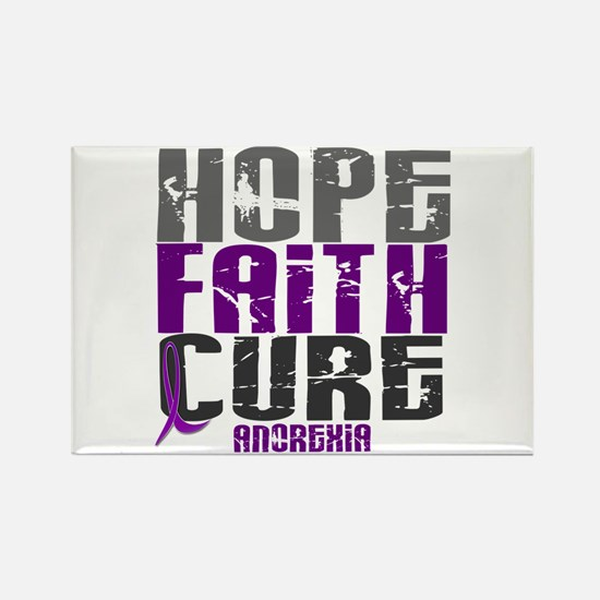 HOPE FAITH CURE Anorexia Rectangle Magnet