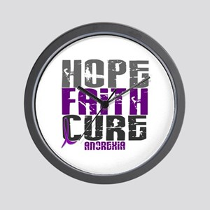 HOPE FAITH CURE Anorexia Wall Clock