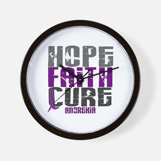 HOPE FAITH CURE Anorexia Wall Clock