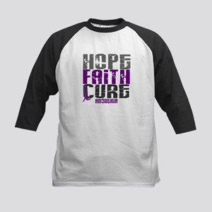 HOPE FAITH CURE Anorexia Kids Baseball Jersey