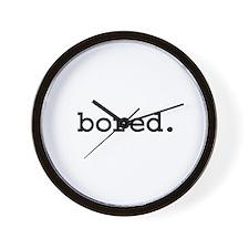 bored. Wall Clock