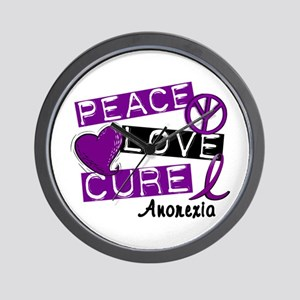PEACE LOVE CURE Anorexia (L1) Wall Clock