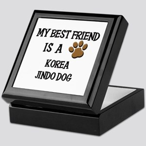 My best friend is a KOREA JINDO DOG Keepsake Box