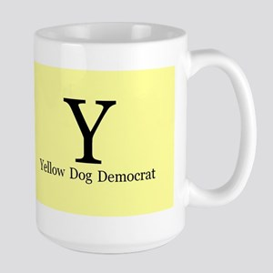 Yellow Dog Democrat Large Mug Mugs