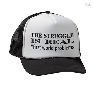 574afbe3faf Hashtag Kids Trucker Hats - CafePress