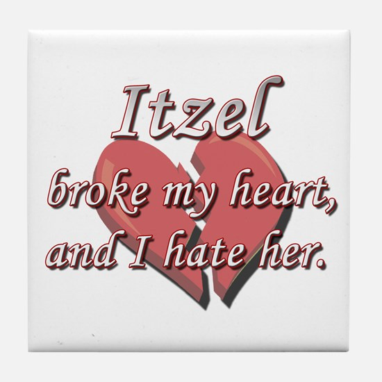 Itzel broke my heart and I hate her Tile Coaster