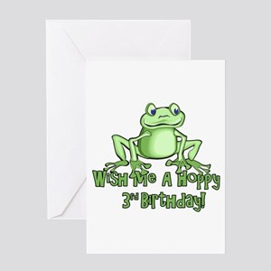 Hoppy 3rd Birthday Greeting Card