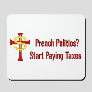 Tax Political Churches Mousepad