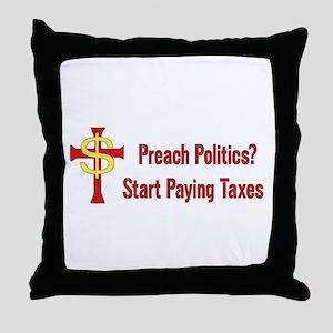 Tax The Churches Throw Pillow