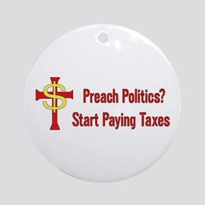 Tax The Churches Round Ornament