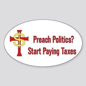 Tax The Churches Sticker (Oval)
