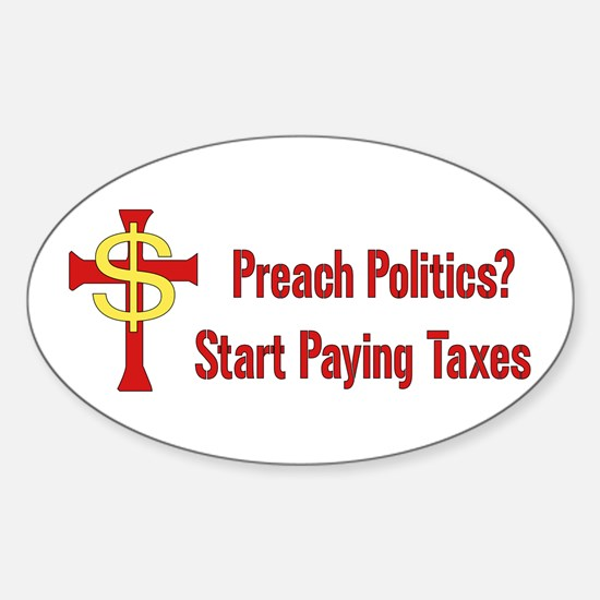 Tax Political Churches Oval Decal