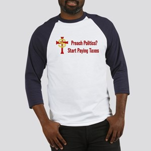 Tax The Churches Baseball Tee