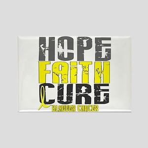 HOPE FAITH CURE Bladder Cancer Rectangle Magnet