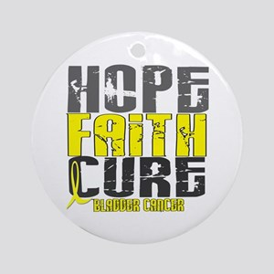 HOPE FAITH CURE Bladder Cancer Ornament (Round)