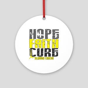 HOPE FAITH CURE Bladder Cancer Ornament (Round)