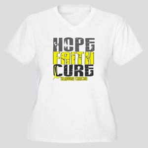 HOPE FAITH CURE Bladder Cancer Women's Plus Size V