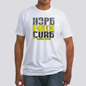 HOPE FAITH CURE Bladder Cancer Fitted T-Shirt