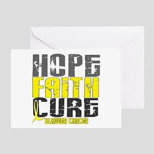 HOPE FAITH CURE Bladder Cancer Greeting Card