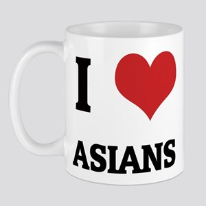 I Love Asians Mug