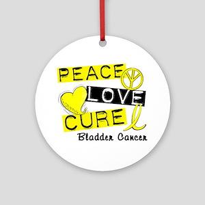 PEACE LOVE CURE Bladder Cancer (L1) Ornament (Roun