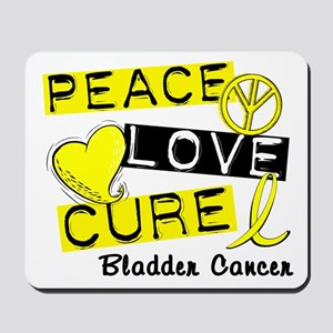 PEACE LOVE CURE Bladder Cancer (L1) Mousepad