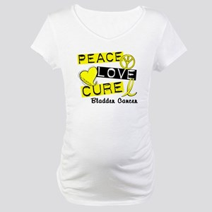 PEACE LOVE CURE Bladder Cancer (L1) Maternity T-Sh