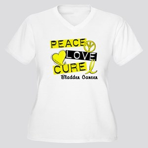 PEACE LOVE CURE Bladder Cancer (L1) Women's Plus S