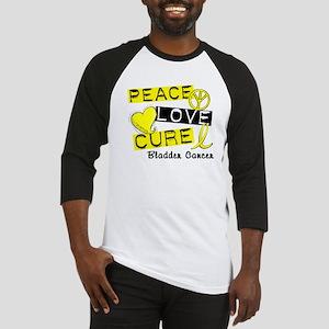 PEACE LOVE CURE Bladder Cancer (L1) Baseball Jerse