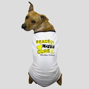 PEACE LOVE CURE Bladder Cancer (L1) Dog T-Shirt