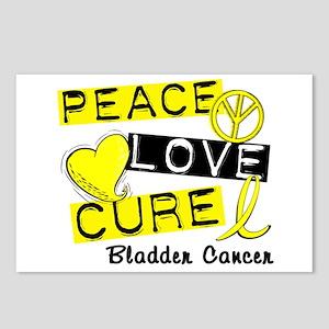 PEACE LOVE CURE Bladder Cancer (L1) Postcards (Pac