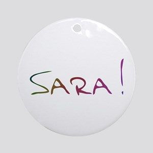 Sara Design #93 Ornament (Round)