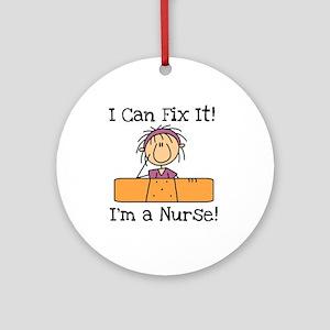 Fix It Nurse Ornament (Round)