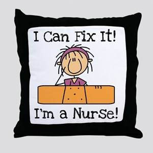 Fix It Nurse Throw Pillow