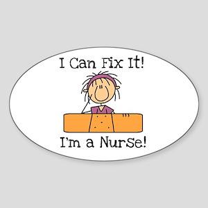 Fix It Nurse Oval Sticker