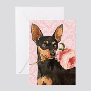 Min Pin Rose Greeting Card
