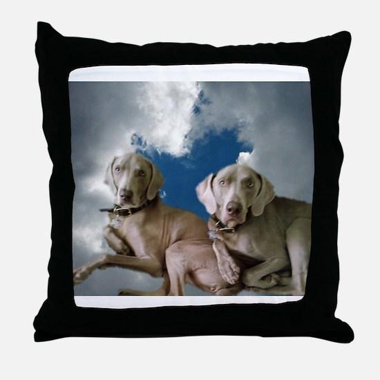Cute Weimaraner dog Throw Pillow