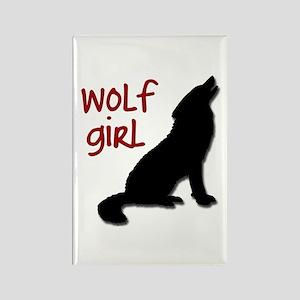 Wolf Girl Rectangle Magnet