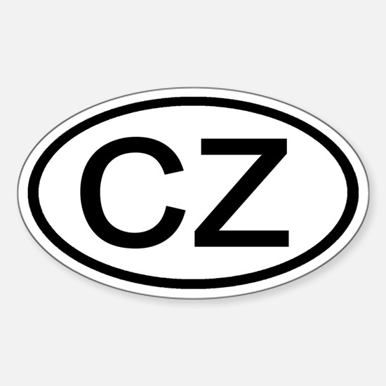 Czech Republic - CZ - Oval Oval Decal