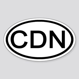 Canada - CDN - Oval Oval Sticker