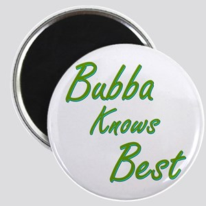 Bubba Knows Best 2-Tone Text Magnet