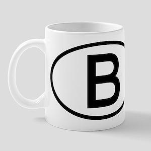 Belgium - B - Oval Mug