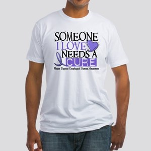 Needs A Cure ESOPHAGEAL CANCER Fitted T-Shirt